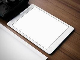 conjunto de alguns elementos de negócio clássico branco. 3d rendem foto