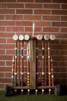 conjunto de croquet clássico foto
