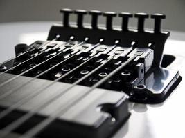 close-up de guitarra. foto