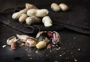 amendoins. fechar-se. foto