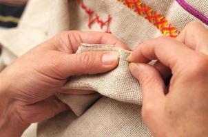 close-up de costura foto