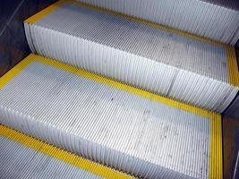 close-up de escada rolante