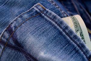 close-up de jeans foto