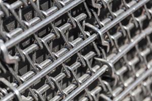 hastes de metal close-up foto