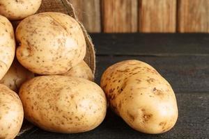 close-up de batatas foto