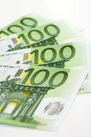 notas de euro, close-up foto