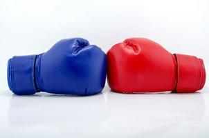 luvas de boxe close-up