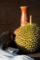 close-up de durian foto