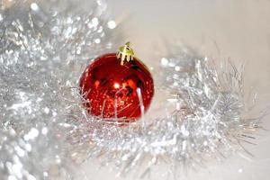 close-up de decoração de natal foto
