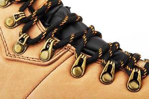 close-up bota de caminhada foto