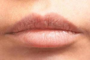 close-up dos lábios foto