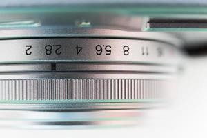 close de lente de câmera