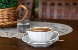 caneca de cappuccino close-up foto