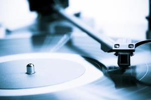 close-up de toca-discos vintage