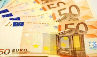 notas de euro fechar foto