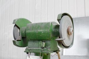 máquina de pedra de amolar close-up foto