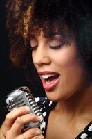 músico de jazz close-up foto
