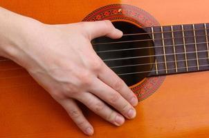 close-up de guitarra foto