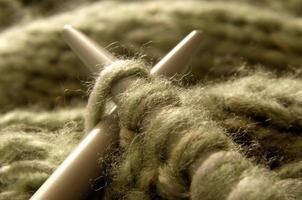 close-up de tricô