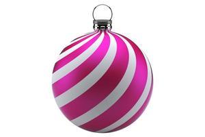 bola de natal rosa foto