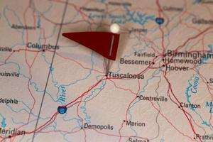 tuscaloosa, al, estados unidos da américa - cidades na série de mapas foto