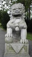 estátua do leão chinês foto