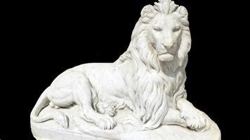 a estátua do leão foto