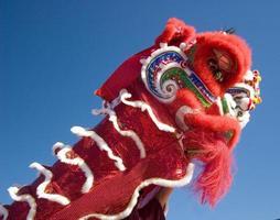 dançarino de leão chinês foto
