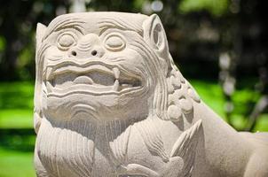 leão imperial da cultura chinesa foto
