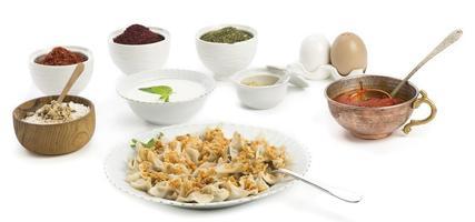 manti turco tradicional do alimento foto