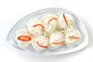 macarrão de farinha de arroz foto
