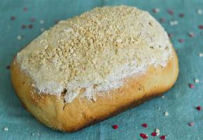 pão caseiro de castanha de caju foto