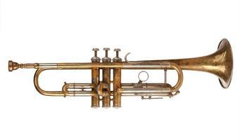 trompete em latão foto