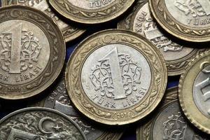 moedas da turquia foto