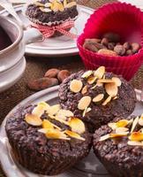 farinha de aveia de muffin foto