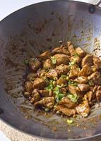 mexa frango caju chinês frito foto