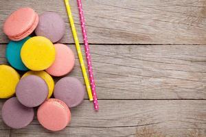 biscoitos coloridos macaron foto