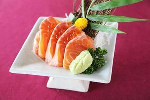 sashimi de salmão foto