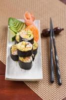 comida de fusão japonesa foto
