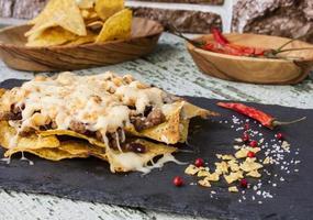 nachos com carne foto