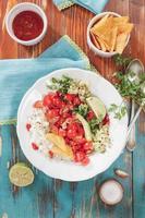 pico de gallo, salsa mexicana fresca foto