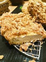 tonkatsu carne de porco frita foto