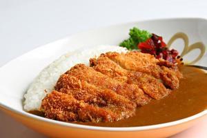 katsukare, arroz com caril japonês foto