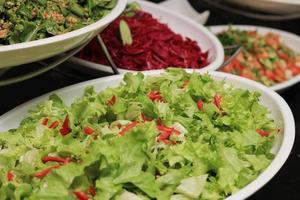 salada de alface foto