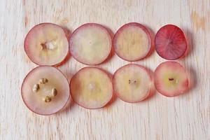 corte de uvas foto