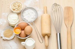 ingrediente alimentar e receita para apoio foto