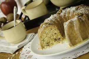 bolo de maçã de eliza (veja a receita abaixo). foto