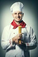 retrato masculino chef foto