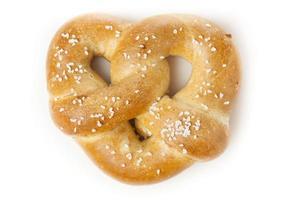 pretzel macio quente caseiro foto