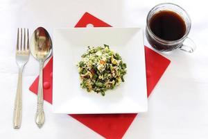 menu de saladas foto